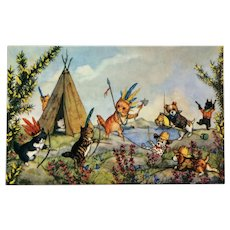 Cowboys And Indians- Molly Brett Postcard