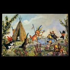 Cowboys And Indians- Molly Brett Postcard