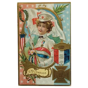 Woman's Relief Corps Decoration Day Postcard