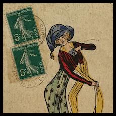 French Fashonista Postcard- CS Naillod