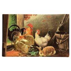 Thanksgiving's Golden Turkey Novelty Postcard