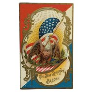 American Eagle Patriotic Postcard