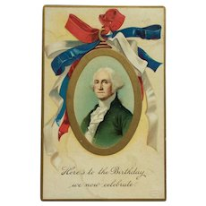 President Washington's Birthday With Patriotic Colors