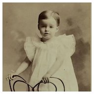 Studio Photograph- Little Boy On Ice Cream Style Chair