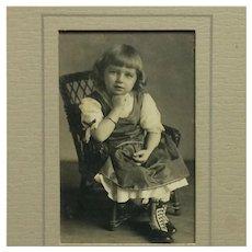 Little Girl Wearing Darling Boots