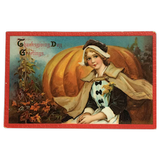 Pilgrim Thanksgiving Beauty- Frances Brundage Postcard
