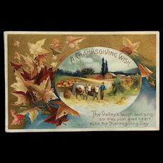Pastoral Thanksgiving Postcard
