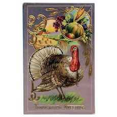 Thanksgiving Plenty- Gel Postcard