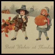 Littlest Pilgrims Celebrate Thanksgiving Postcard