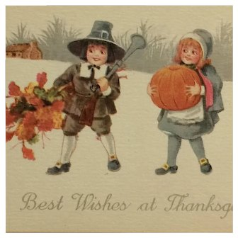 Littlest Pilgrims Celebrate Thanksgiving Postcard