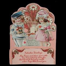 Die Cut Stand Up Valentine Sailor Boy And Girl