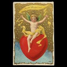 King Of Hearts Cupid Postcard