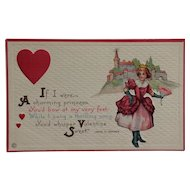 Princess Of Hearts Valentine Postcard