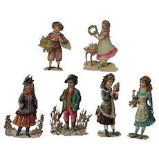 Lot Of 6- Victorian Scrap Children