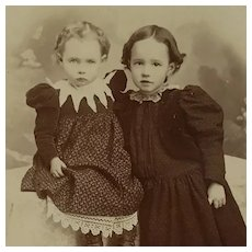 Cabinet Card-Sweet And Shy Victorian Girls