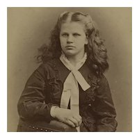 CDV-Victorian Girl With Beautiful Long Hair