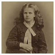 CDV-Victorian Girl With Beautiful Long Hair