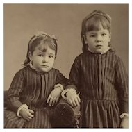 CDV- Sweet Victorian Girls In Look Alike Dresses