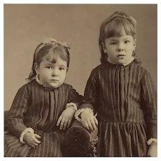 CDV- Sweet Victorian Girls In Look Alike Dresses