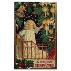 Little Blonde Beauty On Christmas Eve