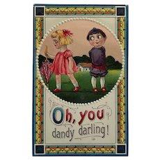 Google Eyed Valentine Sweetheart Postcard