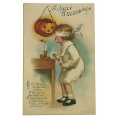 Halloween Games And Frights Postcard