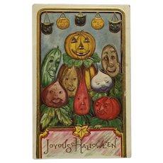 Halloween Vegetable Family Portrait