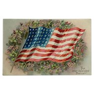 The Star Spangled Banner Waves- Tuck's Decoration Day Postcard