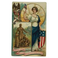 Celebrating Lincoln And America With Columbia- Chapman Postcard