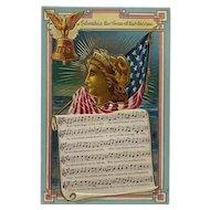 Columbia Gem Of The Ocean Patriotic Postcard