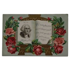 George Washington And Celebration Of Patriotism Postcard