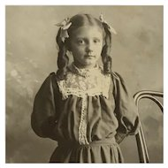Cabinet Card- Young Girl With  Long Curls