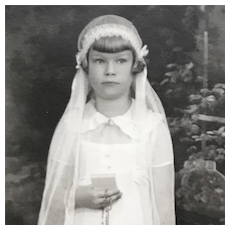 Matted Photograph In Folder- Sweet First Communion