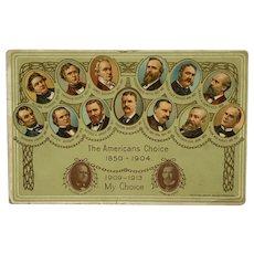 William Jennings Bryan And John Kern 1908 Campaign Postcard