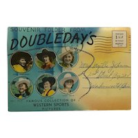 Doubleday Folder Celebrating Cowgirl And Cowboy Rodeo Stars-1943