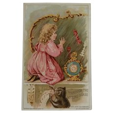 Through The Looking Glass With Alice-Woolson Spice Tradecard