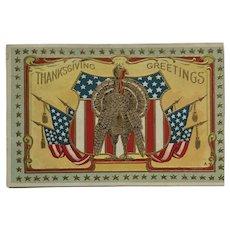 Patriotic Thanksgiving Turkey With Attitude Postcard