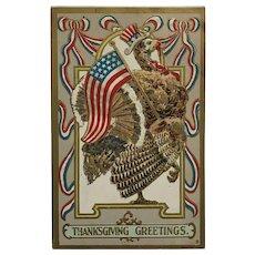Yankee Doodle Dandy Thanksgiving Turkey Postcard