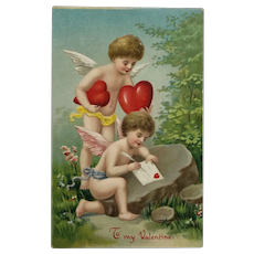 Time To Deliver Valentine's Day Hearts Postcard
