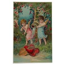 Valentine Hearts Polished To Shine Gel Postcard