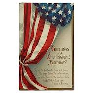 Washington's Birthday And Flag