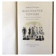 Barchester Towers by Anthony Trollope- Heritage Press 1958