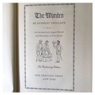The Warden by Anthony Trollope- Heritage Press 1955