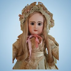 French blond HH wig with silk and lace bonnet.