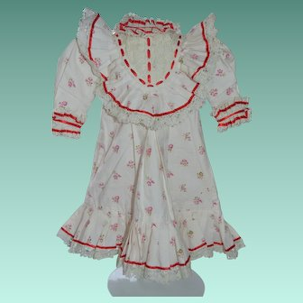 """Vintage copy of a Jumeau chemise dress for a doll around 18-19"""" tall."""