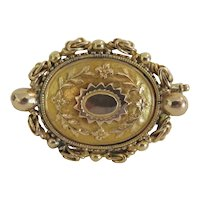 Antique 14k yellow gold brooch, 19th century