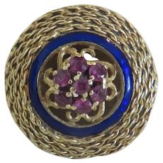 Antique Ruby ring,14k yellow gold, 19th century
