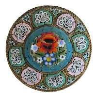 Antique Italian Micro Mosaic brooch, 19th century
