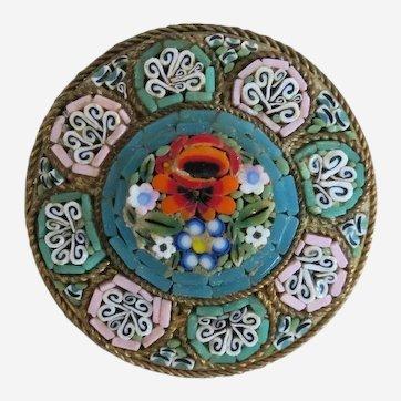 Antique Italian Micro Mosaic brooch, 19th century