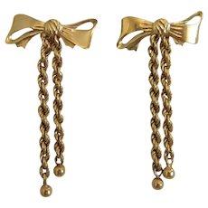 Vintage stud earrings, 14k yellow gold, ca. 1970